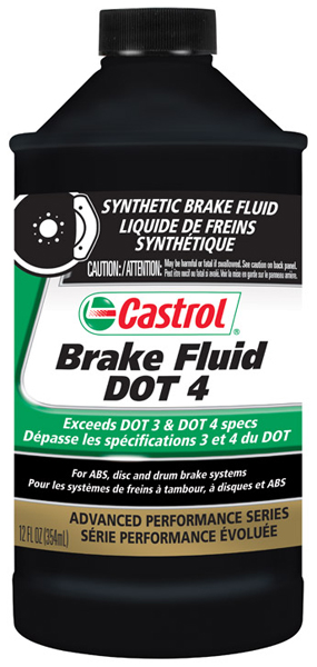 Image of Castrol Synthetic DOT 4 Brake Fluid (12oz.)