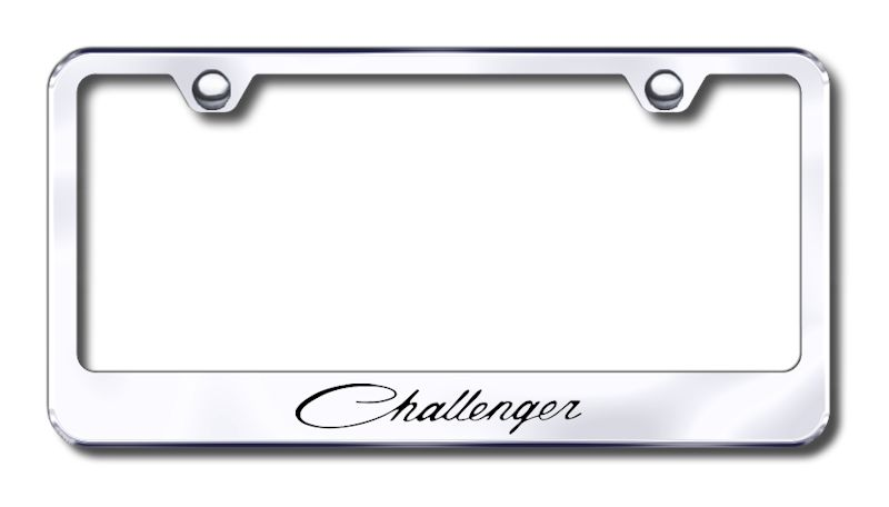 Dodge Challenger Classic Laser Etched Stainless Steel License Plate ...
