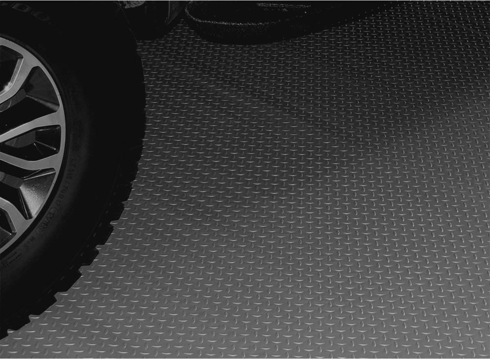 Image of Charcoal Textured Diamond Deck Rollout Flooring Car Mat