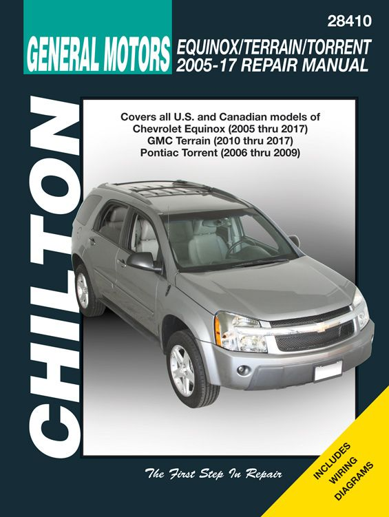 Chevrolet Equinox Amp Pontiac Torrent Chilton Manual 2005