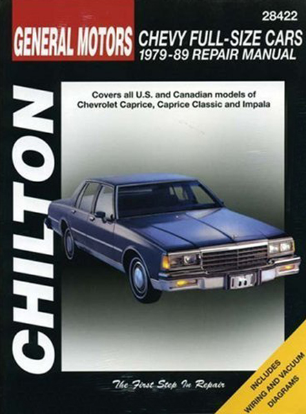 Chevrolet Full-size Cars Chilton Repair Manual (1979-1989)