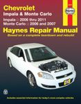 Chevrolet Impala & Monte Carlo Haynes Repair Manual (2006-2011)