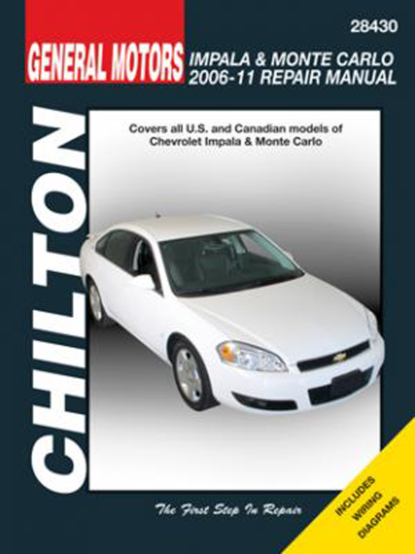 Chevrolet Impala & Monte Carlo Repair Manual (2006-2011)