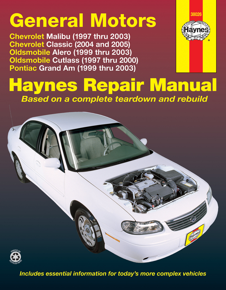 GM Malibu Classic Alero Cutlass & Grand Am Haynes Repair Manual (1997-2005)