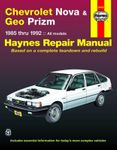 Chevrolet Nova & Geo Prizm Haynes Repair Manual (1985-1992)
