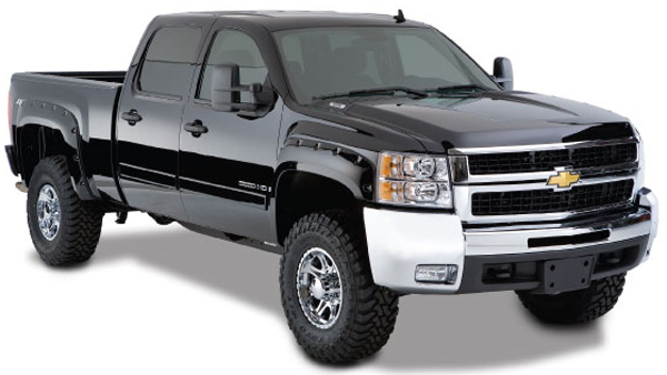 Chevrolet Silverado Bushwacker Pocket Style Fender Flare Kit (2007-2014)