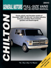 Chevrolet Vans (1967-1986) Chilton Manual