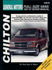 Chevrolet Vans (1987-1997) Chilton Manual