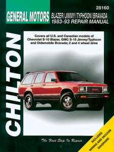 Chevy Blazer, GMC Jimmy, Typhoon & Oldsmobile Bravada Chilton Manual (1982-1993)