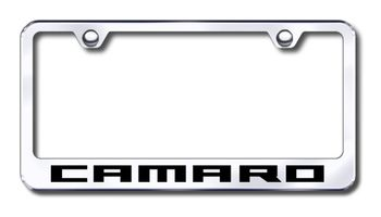 Chevy Camaro Laser Etched Stainless Steel License Plate Frame