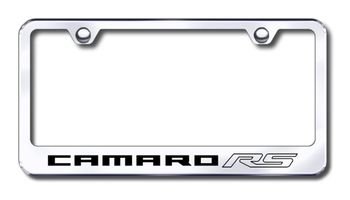 Chevy Camaro RS Laser Etched Stainless Steel License Plate Frame