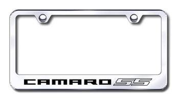 Chevy Camaro SS Laser Etched Stainless Steel License Plate Frame