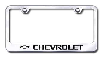 Chevy Laser Etched Stainless Steel License Plate Frame