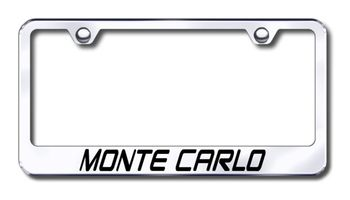 Chevy Monte Carlo Laser Etched Stainless Steel License Plate Frame