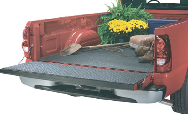 Chevy Silverado & GMC Sierra Black Truck Bed Mat (2007-2010)
