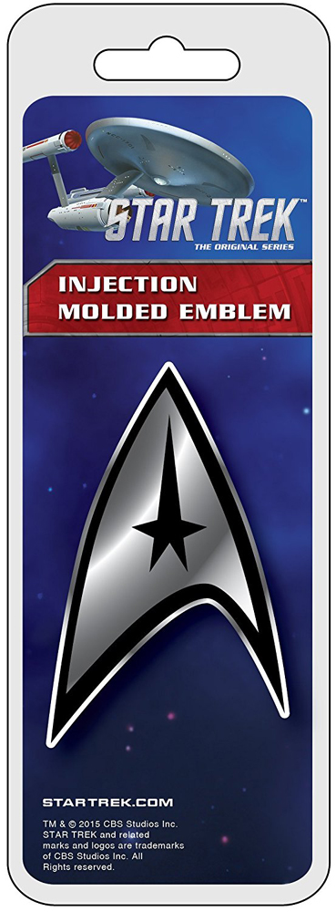Image of Star Trek Badge Chrome Colored Decal