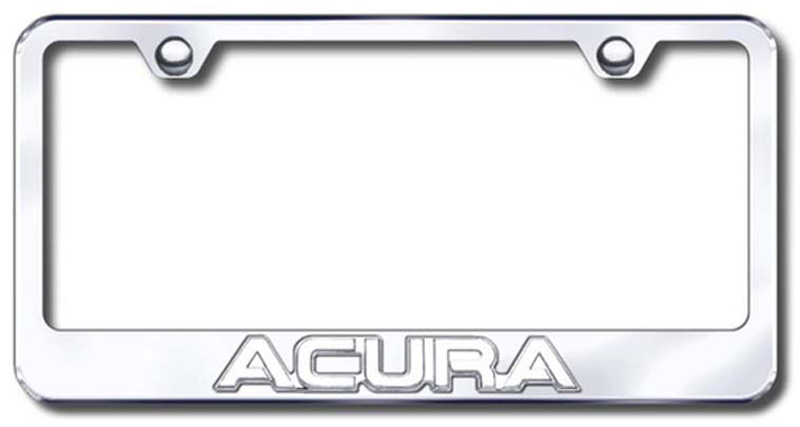 Image of Chrome 3D Acura Logo Stainless Steel License Plate Frame