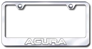 Chrome 3D Acura Logo Stainless Steel License Plate Frame