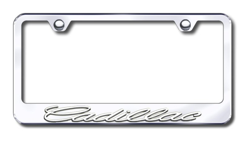 Cadillac Gold Mirror Polished 3D Finish Logo Stainless Steel License Plate