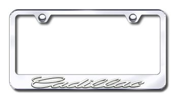Cadillac Logo Chrome Metal license Plate Frame Holder 4 Hole