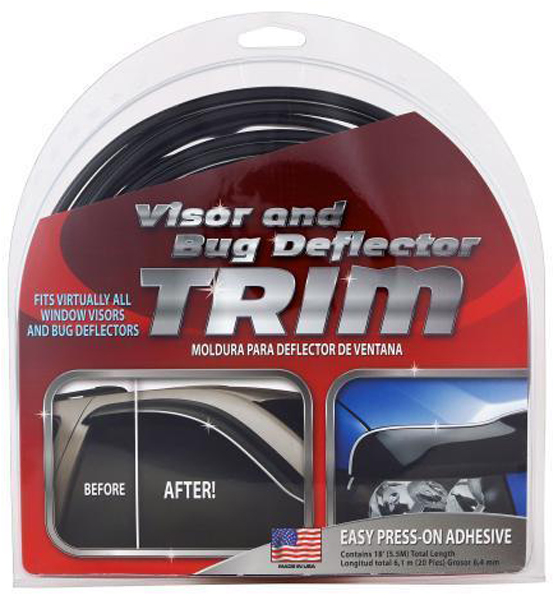 Image of Chrome/Black Bug Delector & Window Visor Trim (18 ft.)
