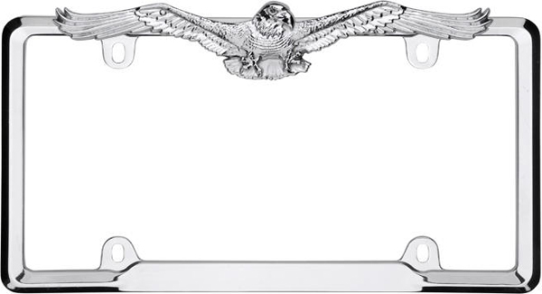 Image of Chrome Eagle License Plate Frame