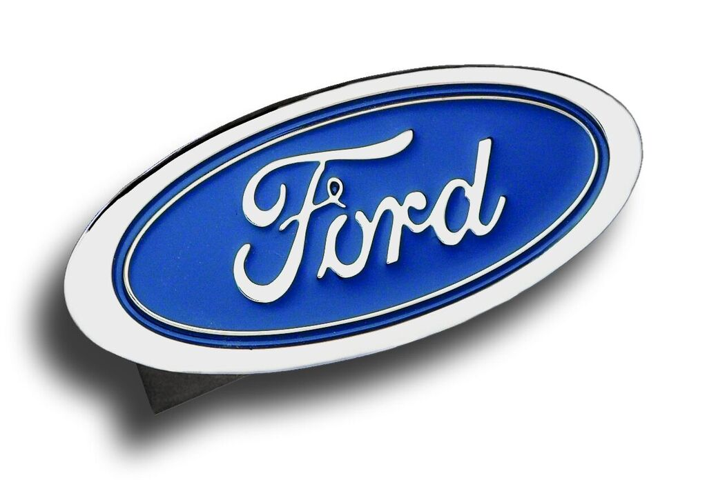 Chrome Ford Logo Stainless Steel Hitch Plug