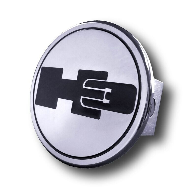 Chrome H3 Logo Stainless Steel Hitch Plug