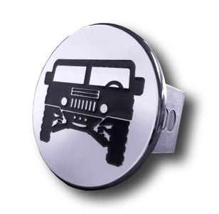 Chrome Hummer Logo Stainless Steel Hitch Plug