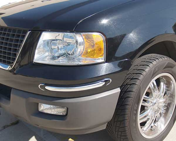 Image of Deluxe Chrome Bumper Guards - BLACK AND CHROME