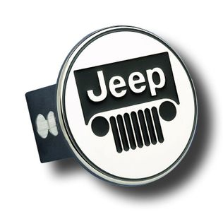 Jeep Stainless Steel Name & Logo Hitch Plug
