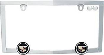 Chrome Plated Cadillac Crested License Plate Frame