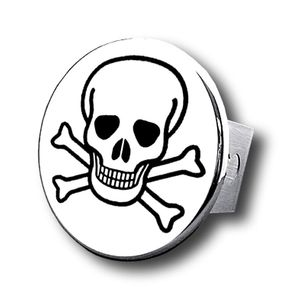Chrome Skull Stainless Steel Hitch Plug