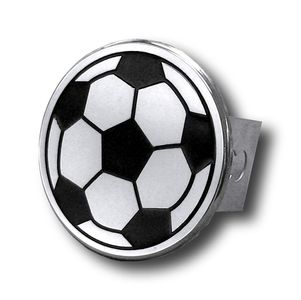 Chrome Soccer Ball Stainless Steel Hitch Plug