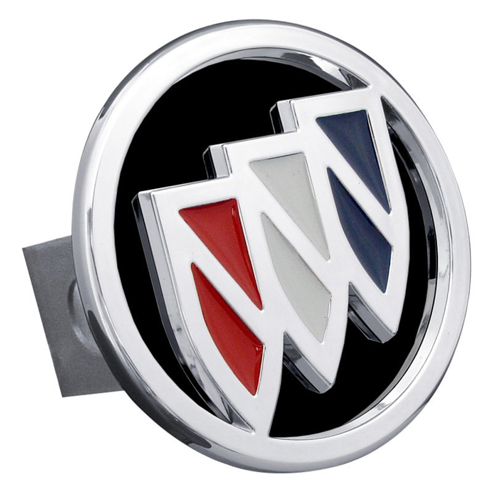 Chrome Tri-Color Buick Logo Black Fill Stainless Steel Hitch Plug
