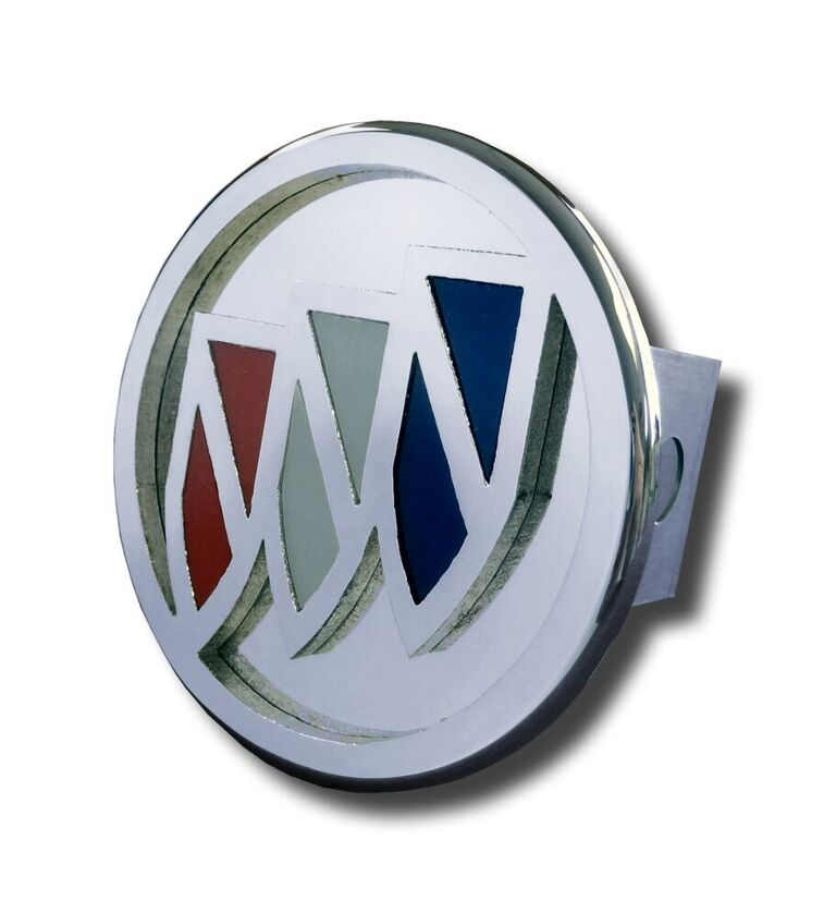 Chrome Tri-Color Buick Logo Stainless Steel Hitch Plug