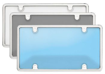 Chrome Tuf Bubble Shield License Plate Frame Combo