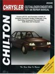 Chrysler Colt, Conquest, Challenger & Vista Chilton Manual (1971-1989)