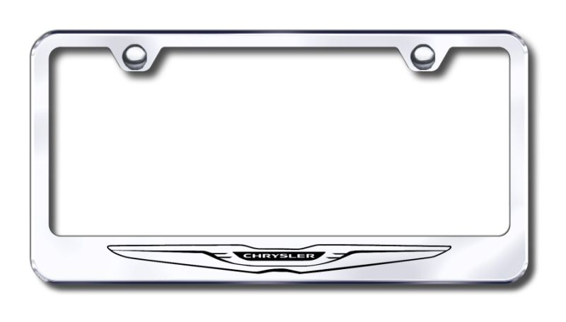 Chrysler Polished Stainless Steel License Plate Frame