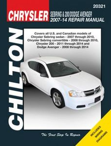 Chrysler Sebring, 200 & Dodge Avenger Chilton Repair Manual (2007-2014)