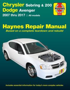 Chrysler Sebring, 200 & Dodge Avenger Haynes Repair Manual (2007-2017)