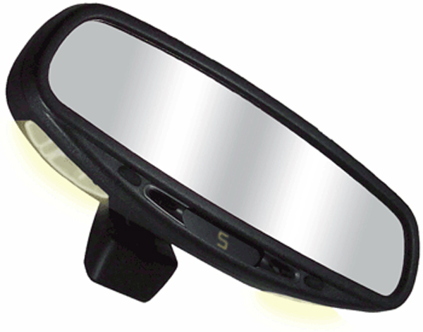 CIPA Auto Dimming Rearview Mirror w/Compass & Map Lights