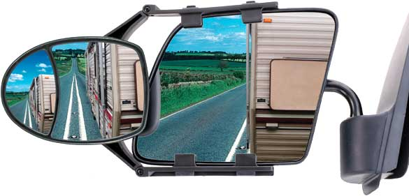 Image of CIPA Dual-Adjustable Universal Clip-On Towing Mirror