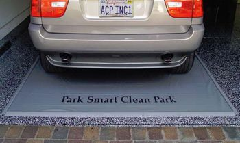 Clean Park Heavy Duty Oil Drip Gray Garage Mat (3' x 4')