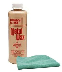 Collinite 850 Metal Wax (1 Pint) & Microfiber Cloth Kit