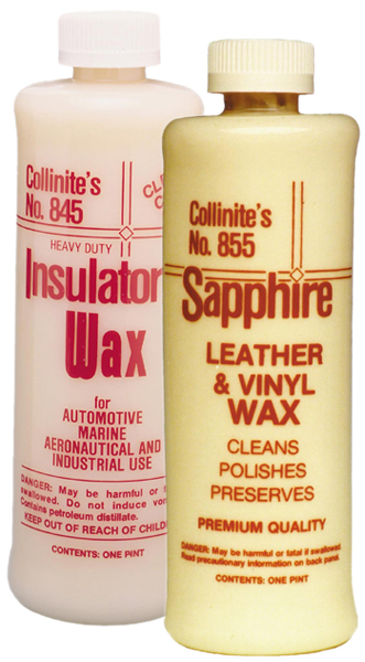 Image of Collinite Insulator Wax (845) & Leather and Vinyl Wax (855) Combo Kit