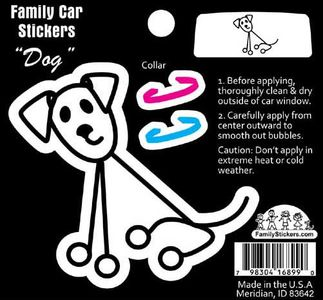 Color Stick Drawing Dog Sticker