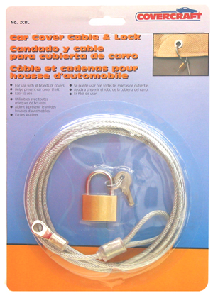 Image of Covercraft Car Cover Cable & Lock Kit
