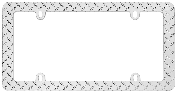 Image of Cruiser Diamond Plate Chrome License Plate Frame