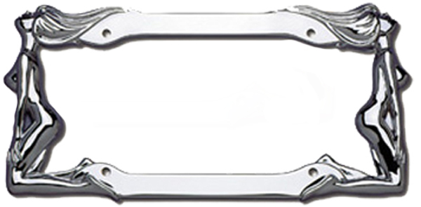 Image of Cruiser Twin Women Chrome License Plate Frames